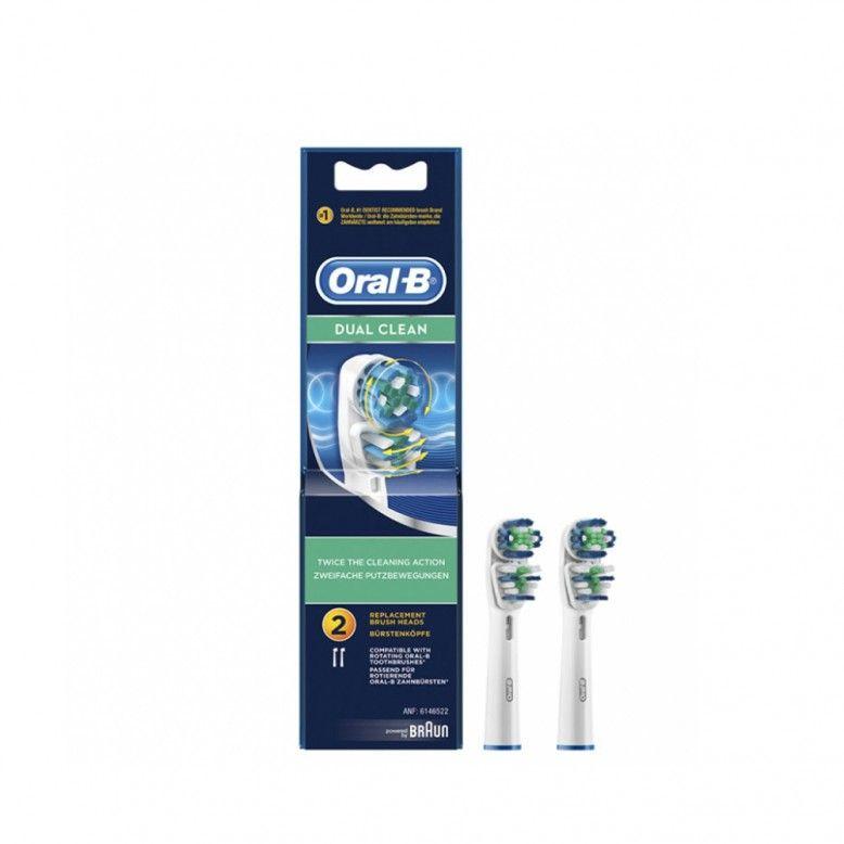Oral-B Dual Clean Recarga para Escova Elétrica x2