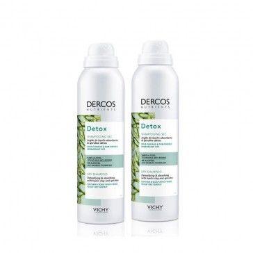 Dercos Nutrients Pack Detox Champô Seco 2x150ml