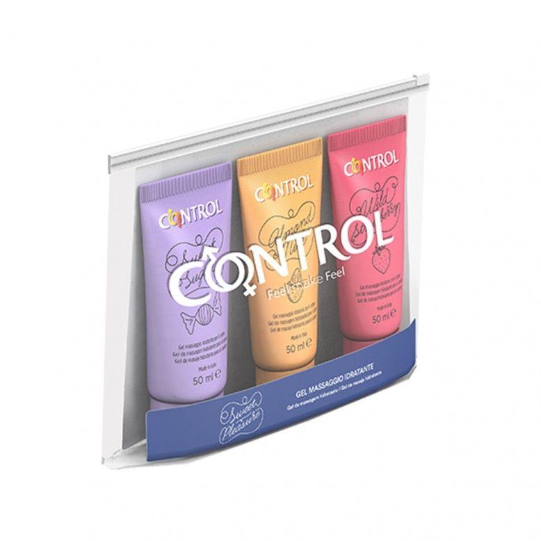 Control Sweetpleasure Kit Gel Massagem 3x50ml + Bolsa