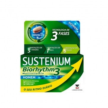 Sustenium Biorhytmo Multivitaminas Homem x30